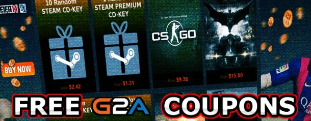 Free G2A Coupons