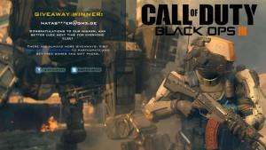 Black Ops III Giveaway Winner