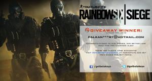 Rainbow Six Siege Giveaway Winner