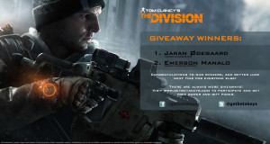 Tom Clancy's The Division giveaway winners