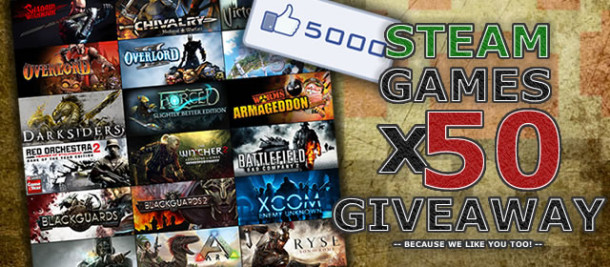 50x Steam Game Giveaway on GetBetaKeys