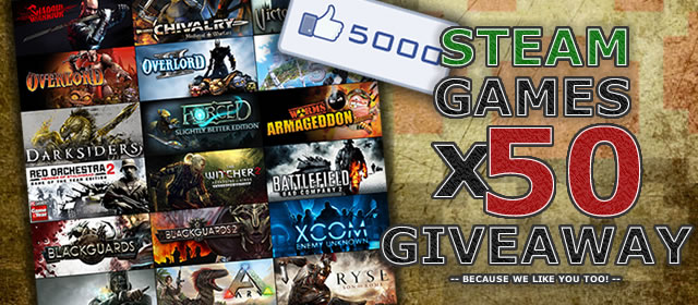 Giveaway games on facebook