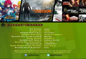 CoA Divison Contest Winners