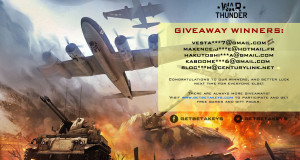War Thunder Giveaway Winners
