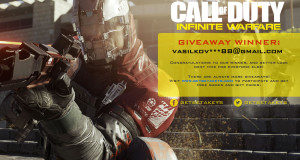 Infinite Warfare giveaway winner